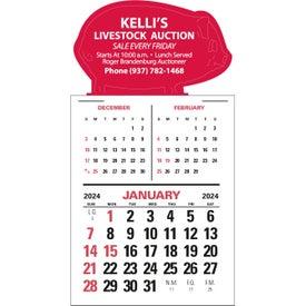 Magna Stick Three Month Vertical Calendar Pad