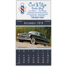 Imprinted Magna Stick Cruisin Cars Calendar Pad