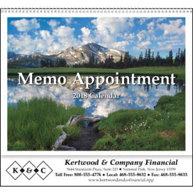 Promotional Memo Appointment with Picture - Calendar