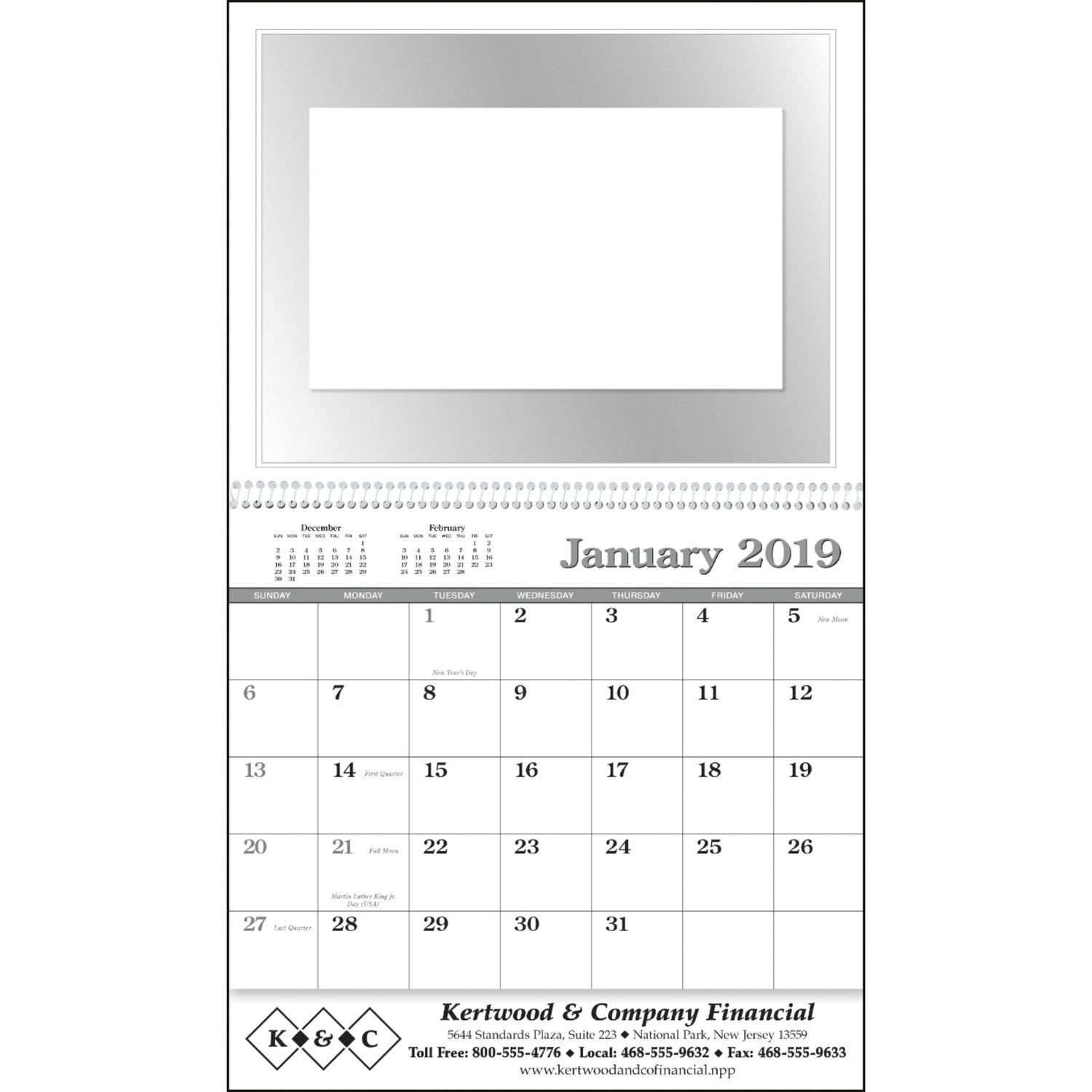 promotional 2019 memo appointment with picture calendars with