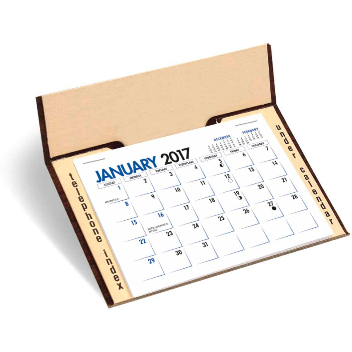 Memo Desk Calendar 2017 Custom Desktop Items 1 17 Ea