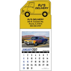 Branded Memorable Muscle Stick Up Calendar