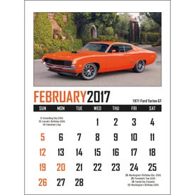 Memorable Muscle Stick Up Calendar Printed with Your Logo