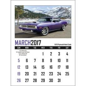 Custom Memorable Muscle Stick Up Calendar