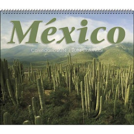 Mexico Spiral 13 Month Calendar for Your Company