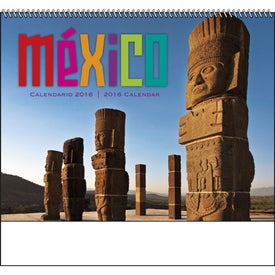 Mexico Spiral 13 Month Calendar with Your Logo