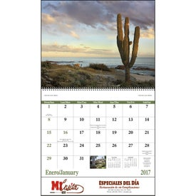 Mexico Spiral 13 Month Calendar Giveaways