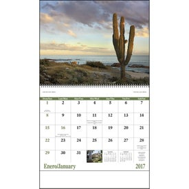 Mexico Spiral 13 Month Calendar Printed with Your Logo