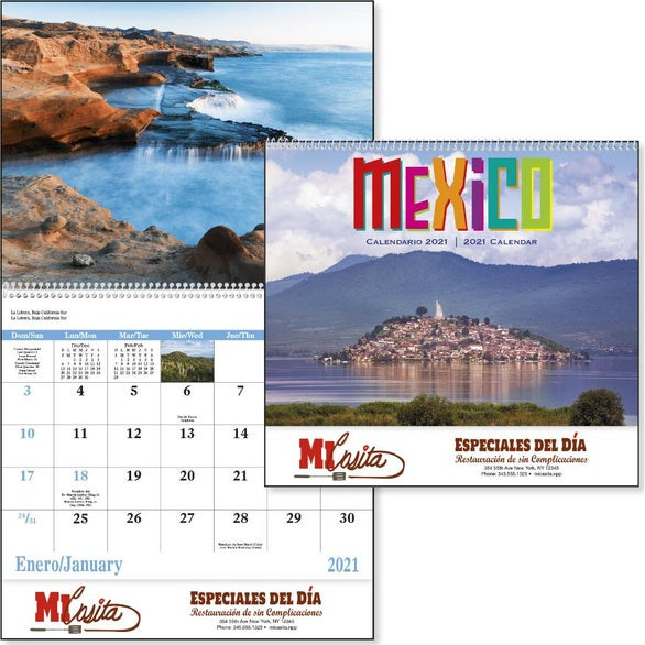 See Item Mexico 13 Month Calendar