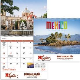 Printed Mexico Spiral 13 Month Calendar