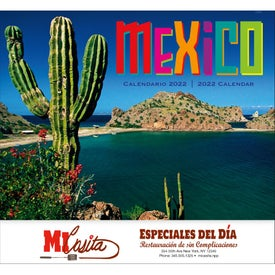Mexico Stapled 13 Month Calendar Branded with Your Logo