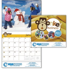 Printed Monkey Business Appointment Calendar