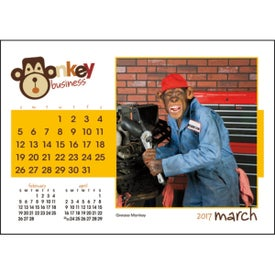 Monkey Business Desk Calendar Giveaways