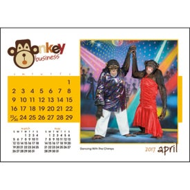 Company Monkey Business Desk Calendar