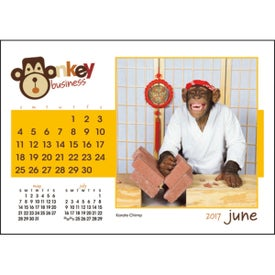 Monkey Business Desk Calendar for Your Company
