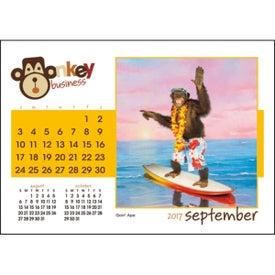Branded Monkey Business Desk Calendar