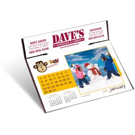 Monkey Business Desk Calendar Branded with Your Logo