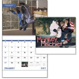 Monkey Mischief Spiral Calendar with Your Logo