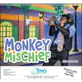 Monkey Mischief Calendars (2021, Spiral)
