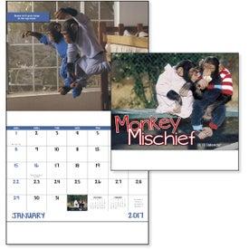 Company Monkey Mischief Stapled Calendar
