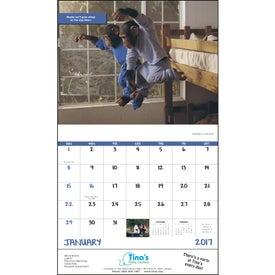 Monogrammed Monkey Mischief Stapled Calendar