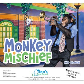 Customized Monkey Mischief Stapled Calendar