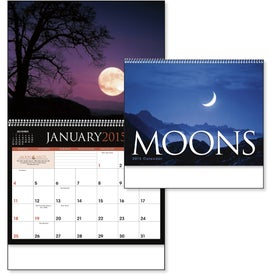 Moons Calendar with Your Slogan