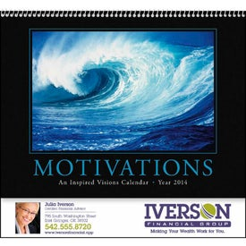 Motivations Appointment Calendar Imprinted with Your Logo