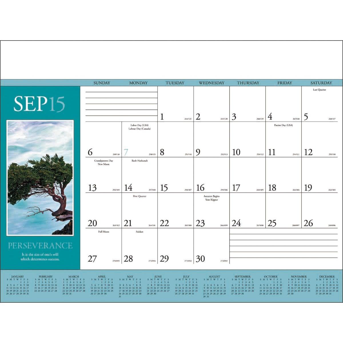 Desk Pad Calendar   Calendar Template 2016