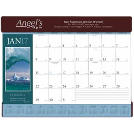 Personalized Motivations Desk Pad Calendar