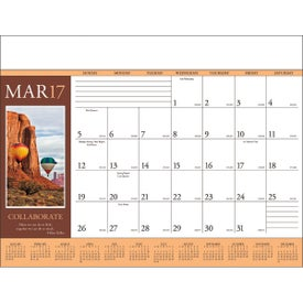Motivations Desk Pad Calendar for Marketing