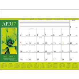 Motivations Desk Pad Calendar for Customization