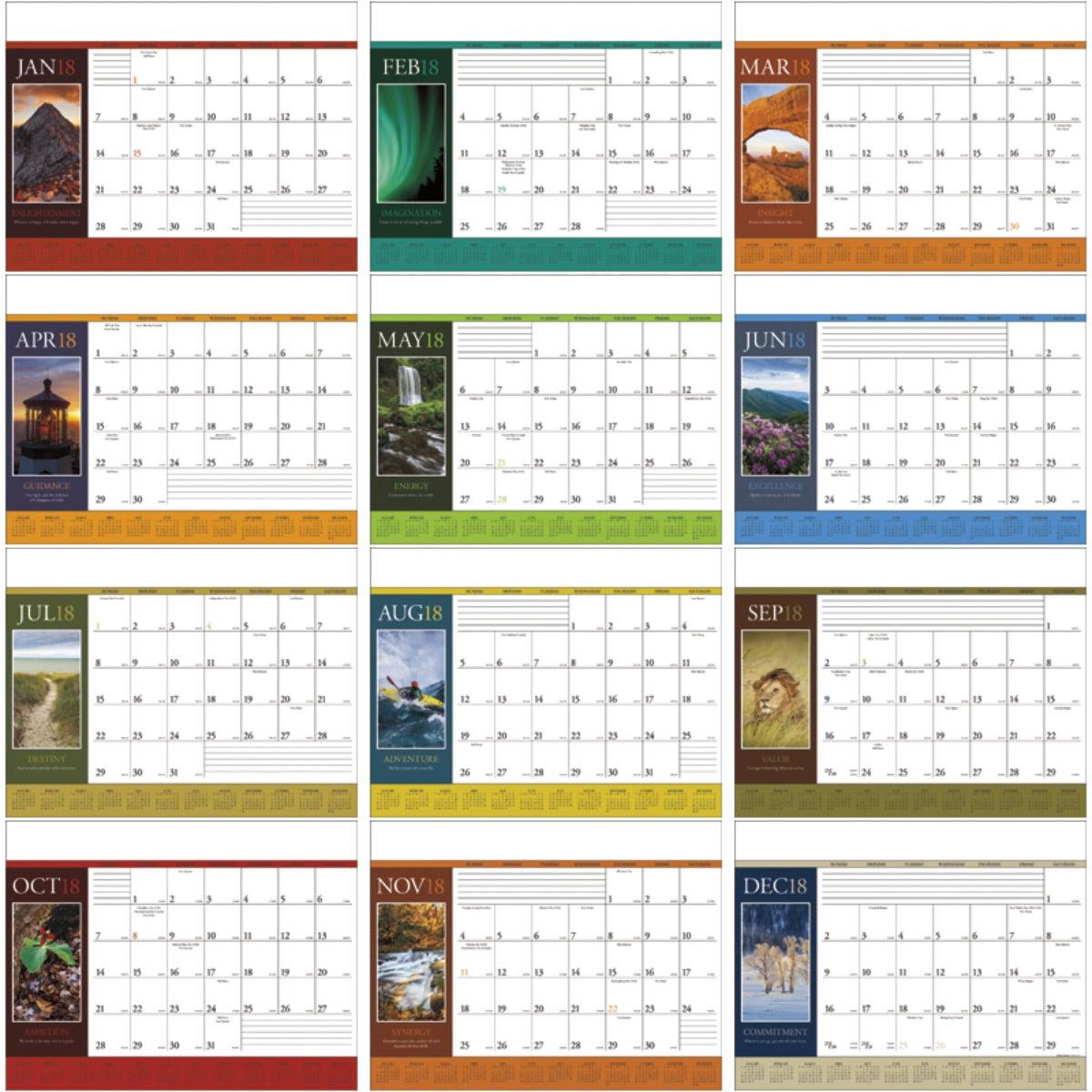 Motivations Desk Pad Calendar 2018