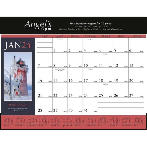 Motivations Desk Pad Calendar 2017