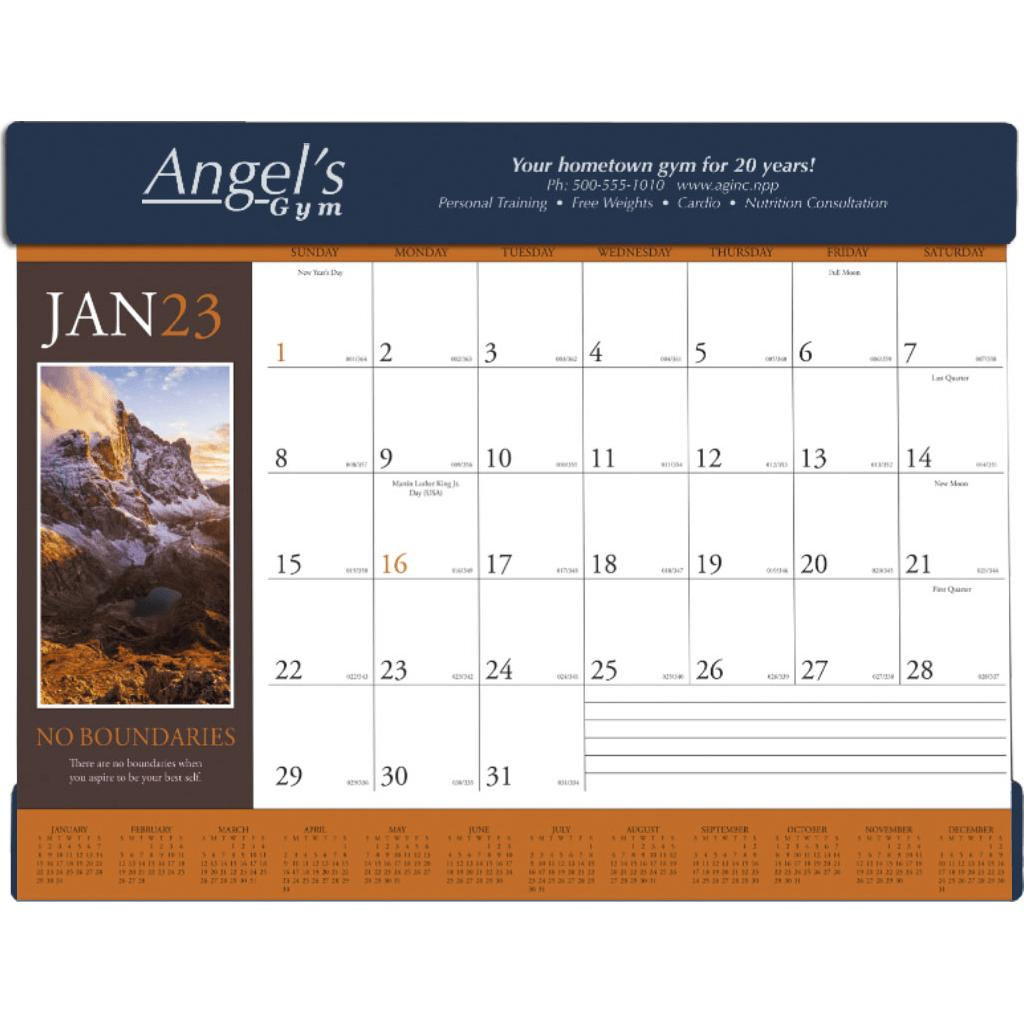 Navy Motivations Desk Pad Calendar 2019 Imprinted With Your Logo