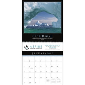 Monogrammed Motivations Executive Calendar