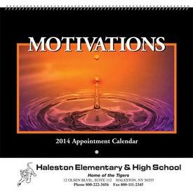 Monogrammed Motivations Wall Calendar