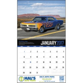 Advertising Muscle Cars Appointment Calendar