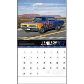 Monogrammed Muscle Cars Appointment Calendar