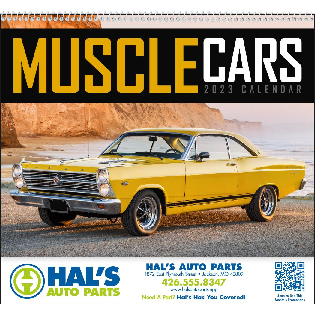 Promotional 2019 Muscle Cars Appointment Calendars with Custom Logo ...