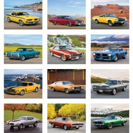Muscle Cars Wall Calendar for Promotion