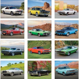Printed Muscle Cars Wall Calendar