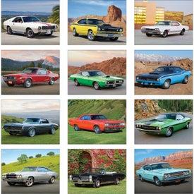 Printed Muscle Cars Wall Calendar
