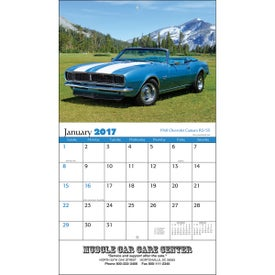 Muscle Cars Wall Calendar Printed with Your Logo