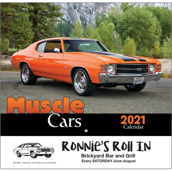 See Item Muscle Cars Wall Calendar
