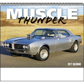 Muscle Thunder Spiral Calendar, English Imprinted with Your Logo