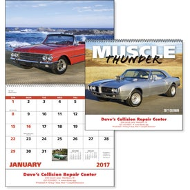 Muscle Thunder Spiral Calendar, English for Your Church
