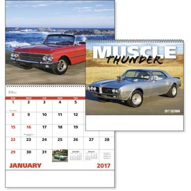 Personalized Muscle Thunder Spiral Calendar, English