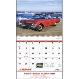 Custom Muscle Thunder Spiral Calendar, English