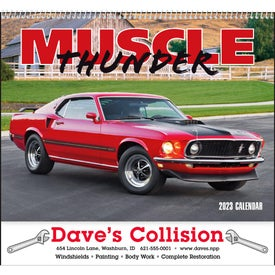 Muscle Thunder Spiral Calendar, English for your School